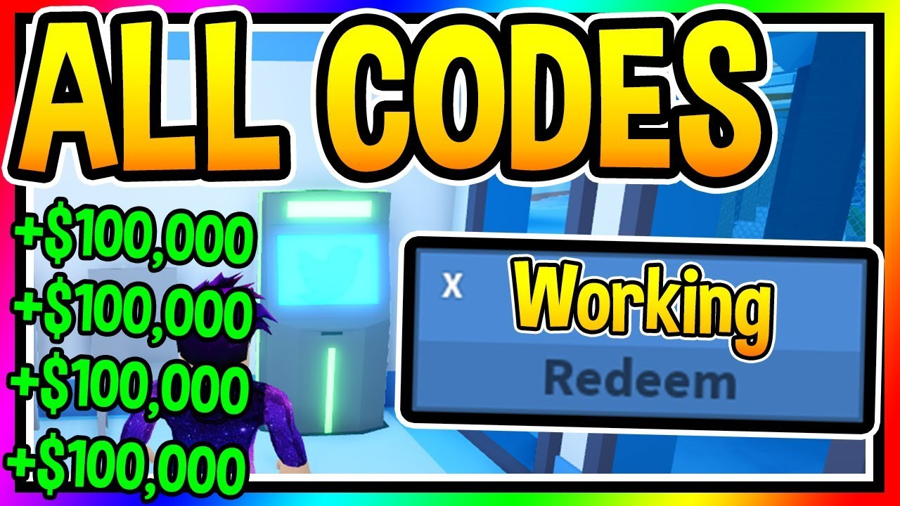 WORKING ALL CODES IN JAILBREAK Roblox YouTube